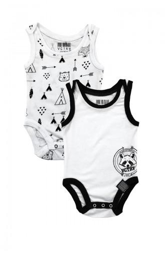 Unısex Baby 2-teiliges Athleten Körperset  A6370 Weiss 6370
