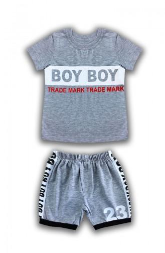 Baby Boy Boy Detail, 2er Set E0571 Grau 0571