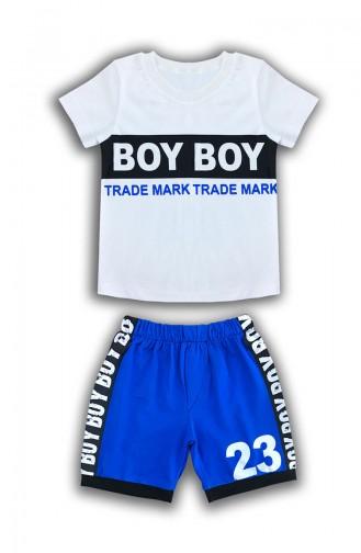 Baby Boy Detaillierter Set E0573 Weiss 0573