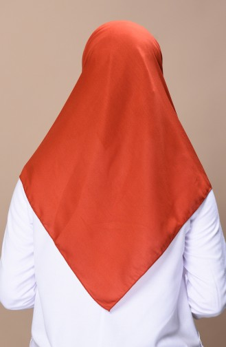 Soft Baumwoller Kopftuch  19050-09 Ziegelrot 19050-09