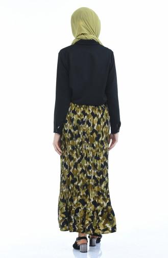 Oil Green Skirt 60528-01