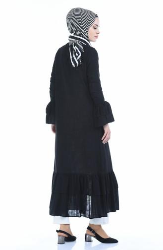 Abaya lin 5003-01 Noir 5003-01