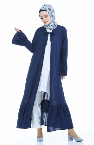 Abaya lin 5003-02 Bleu Marine 5003-02