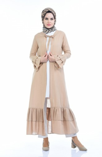 Sommerliches Leinen Abaya 5003-03 Beige 5003-03