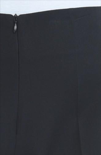 Schlaghose mit Versteckte Reissverschluss  0893-05 Schwarz 0893-05