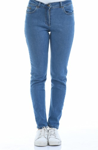 Jeans Kleid mit Tasche 0659-01 Jeans Blau 0659-01
