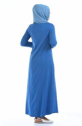 Oil Blue Dress 1227A-01