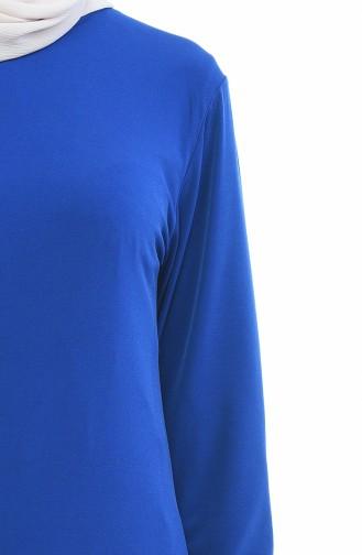 Saks-Blau Bluse 5001-01