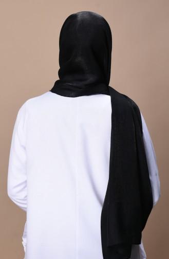 Parlak Abiye Şal 2330-09 Siyah