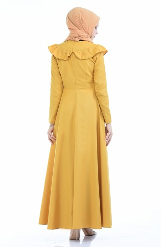 Yellow İslamitische Jurk 7203-14