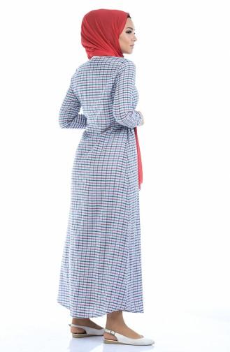 فستان أزرق كحلي 1267-05