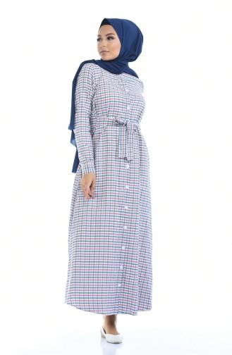 Kleid mit Gürtel 1270-03 Dunkelblau Blau 1270-03