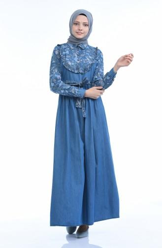 Robe Jean Forncée 4054A-01 Bleu Jean 4054A-01