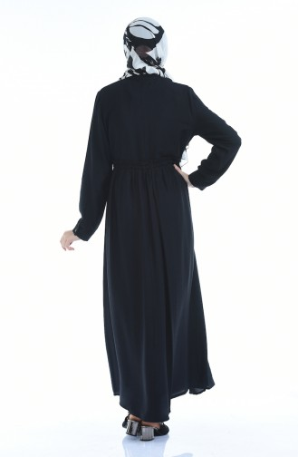 Robe Taille Froncée Tissu Aerobin 1959-03 Noir 1959-03