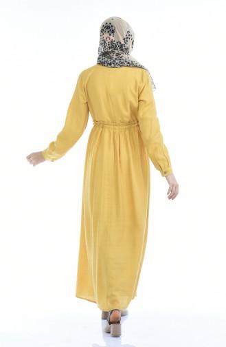 فستان أصفر خردل 1959-06