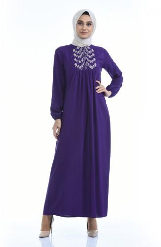 Purple Hijab Dress 5027-11