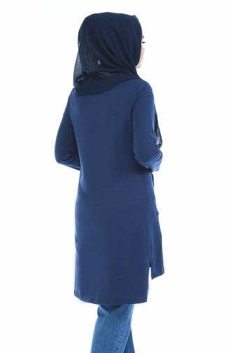 Tunique Imprimée 3057-10 Bleu Marine Clair 3057-10