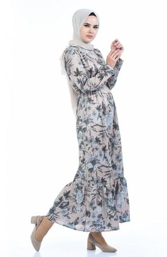Robe a Paillettes 3012-01 Beige 3012-01