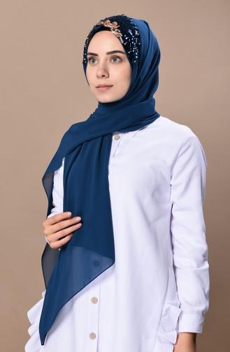 Prenses Tasarım Şal 0037-05 Petrol Mavisi