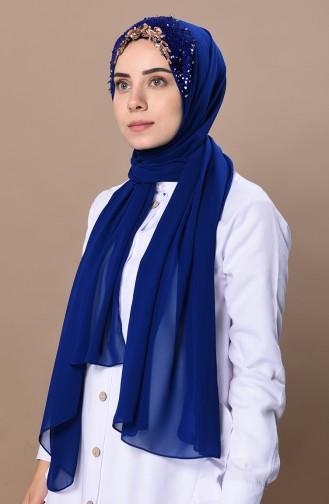 Saks-Blau Schal 0037-06