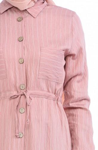 Beige-Rose Hijap Kleider 0169-03