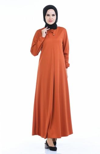 A Plissee Kleid 8380-01 Ziegelrot 8380-01