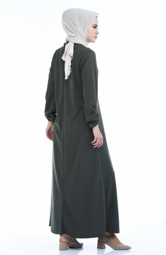 A Plissee Kleid 8380-06 Khaki 8380-06