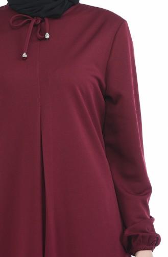 A Plissee Kleid 8380-07 Weinrot 8380-07