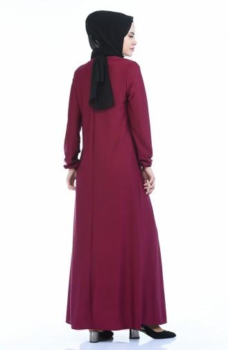 A Plissee Kleid 8380-08 Zwetschge 8380-08