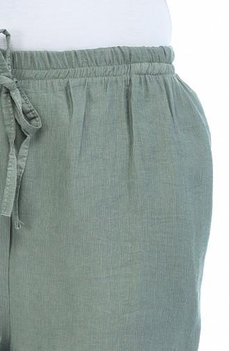 Waist Elastic Trousers 0290-06 light Khaki 0290-06