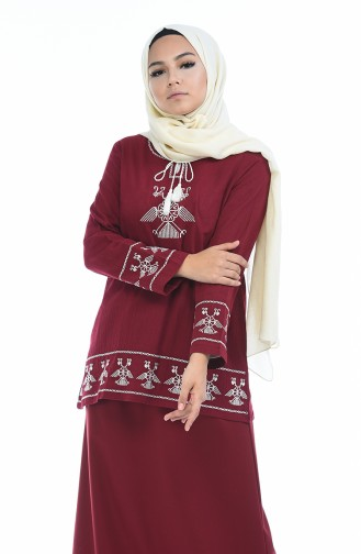 Claret red Blouse 21203-02