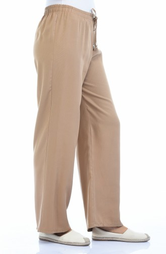 Waist Elastic linen Trousers 2086-04 Camel 2086-04