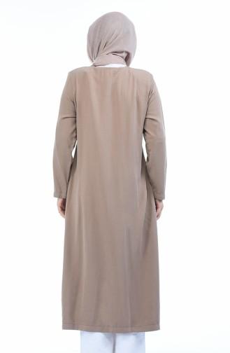 Grosse Grösse Sinnlich Abaya mit Reissverschluss 0365-04 Nerz 0365-04