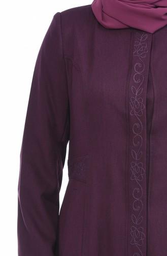 معطف فوقي أرجواني 1175-06