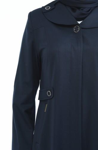 معطف فوقي أزرق كحلي 5102-03