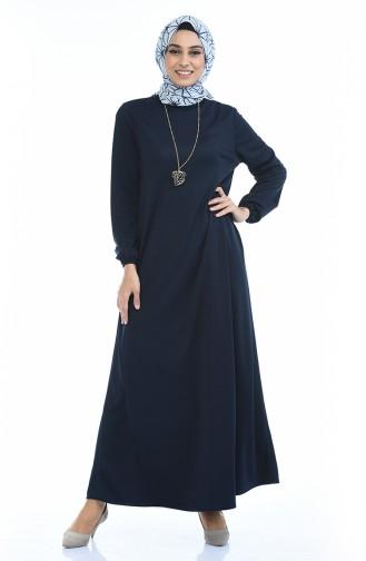 Gummi Kleid mit Halskette 0103-06 Dunkelblau 0103-06