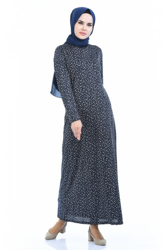 Navy Blue Dress 8837-01
