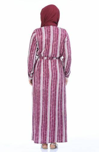 فستان ارجواني داكن 7516-04