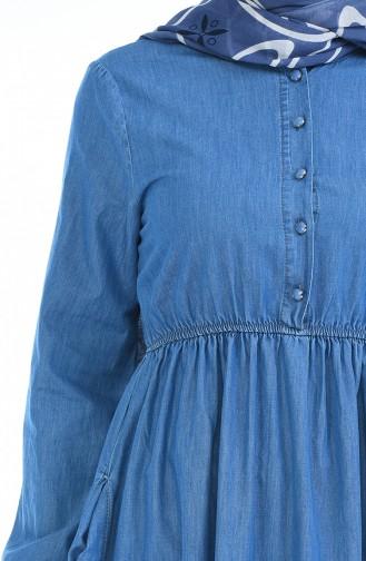 Jeans Kleid 4071-02 Jeans Blau 4071-02