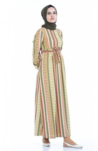 فستان أخضر حشيشي 4791F-01