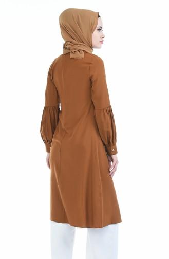 Kravat Yaka Tunik 5018-09 Taba