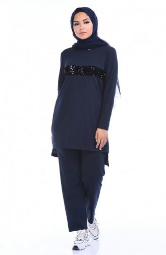 Navy Blue Sweatsuit 1010-01