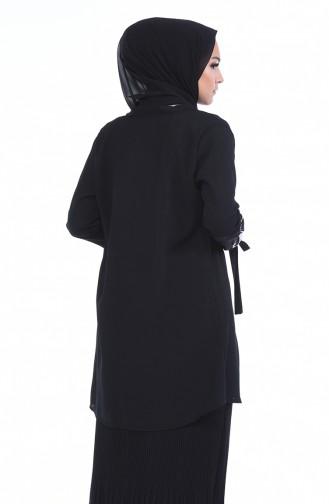 Piliseli Etek 5273-03 Siyah