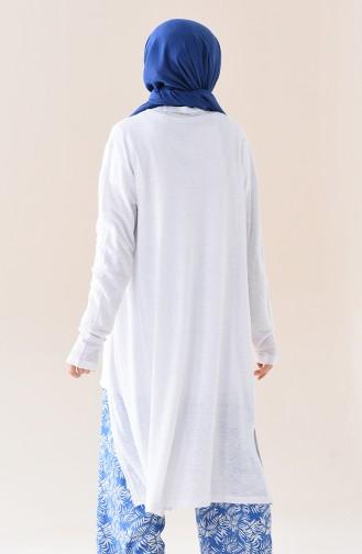 White Cardigan 7857-04