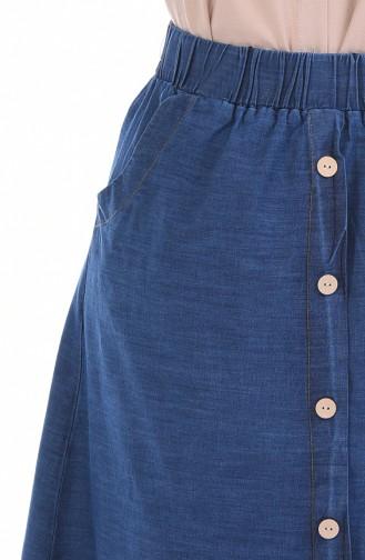 تنورة أزرق كحلي 2819-01