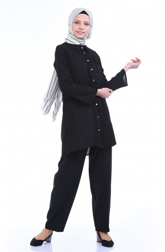 Pantalon Taille Élastique 5272-04 Noir 5272-04