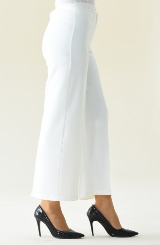 Flared Summer Pants 1108-04 White 1108-04