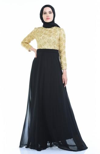 فساتين سهرة بتصميم اسلامي ذهبي أصفر 83051-01