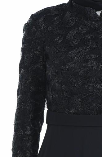 Black Islamic Clothing Evening Dress 83051-02