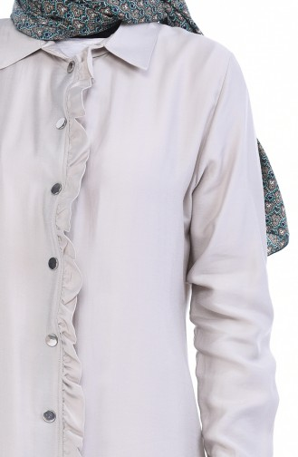 Robe a Froufrous Tissu Aerobin 0167-02 Beige 0167-02